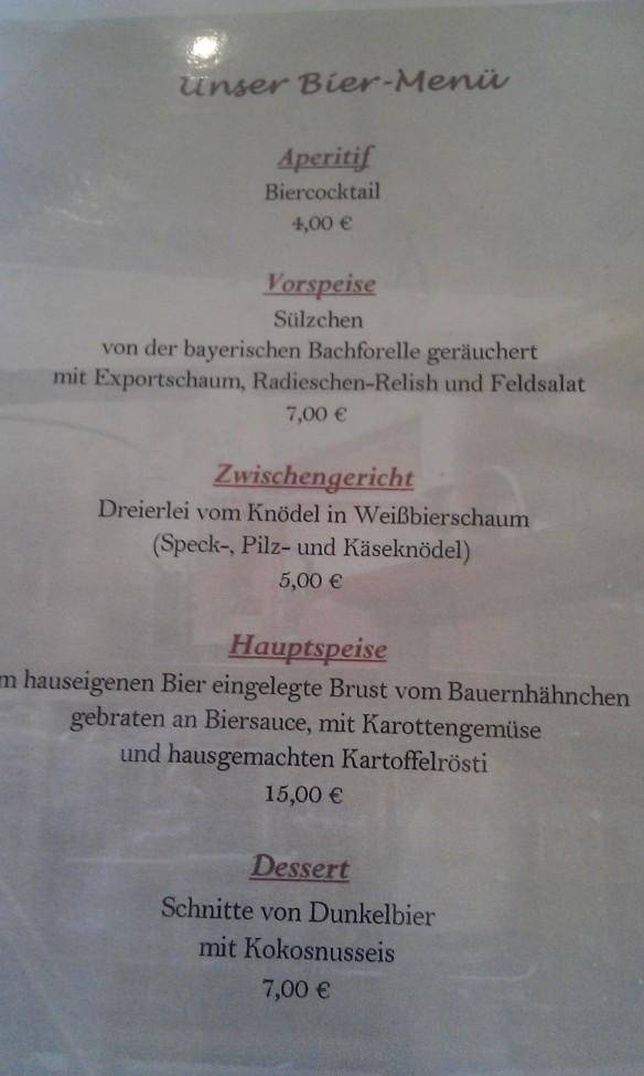 Willkommen in Bayern! Das ist Ihr Mittagsmahl.