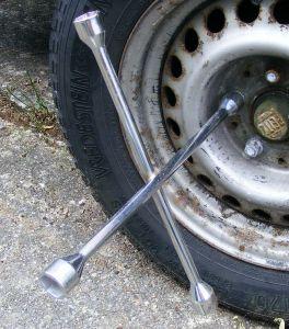 Kann auch geworfen werden, wenn Zielwasser getrunken: Ein Radkreuz.